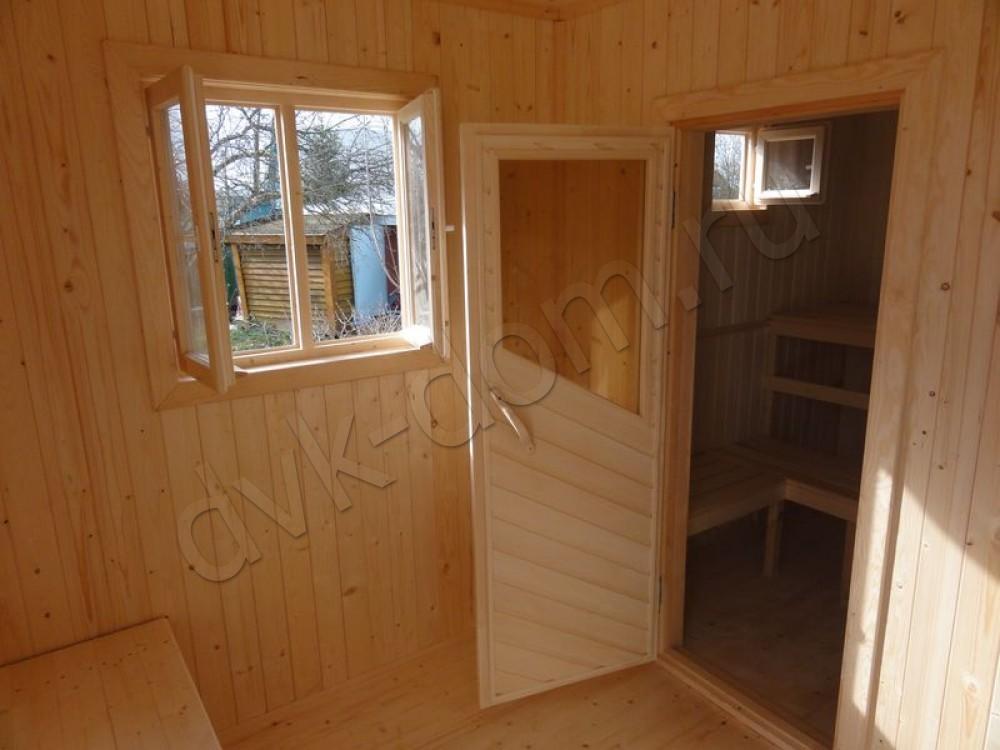 Деревянная баня 3х4 своими руками 52