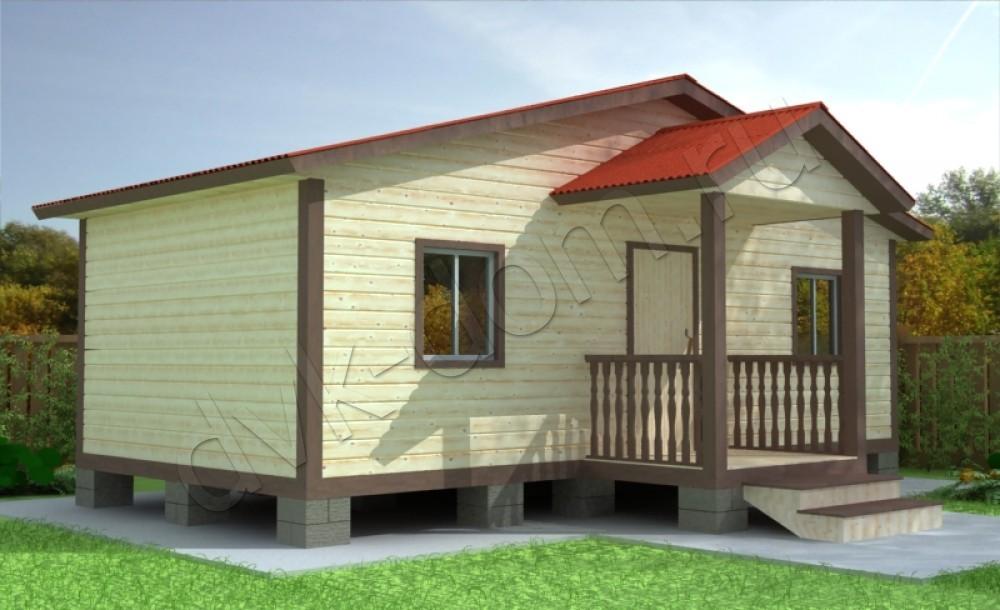 Дом 6х6 из бруса с мансардой 122