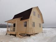 Дачный каркасный дом 6х6 с мансардой